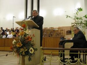 Участие в вечернем служении в церкви на ул. Пухова