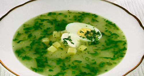 суп со щавелем и пшеном рецепт #12
