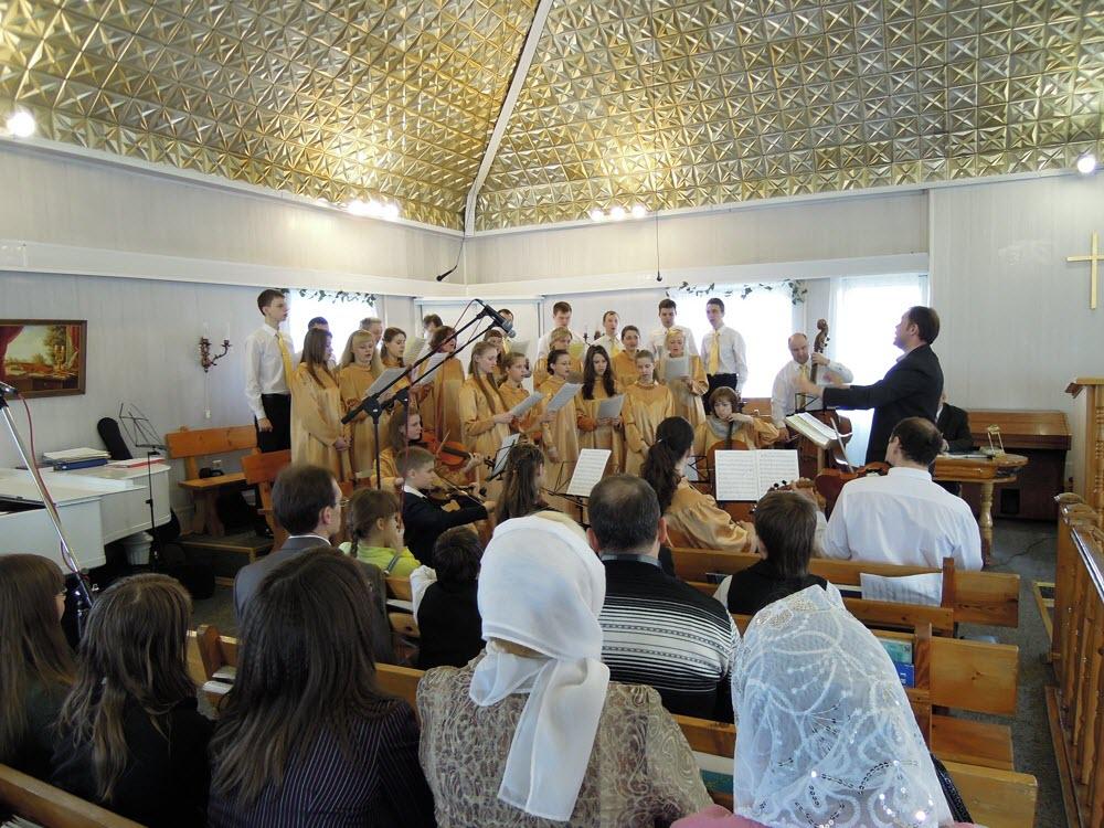 Богослужение в церкви «Пробуждение»
